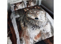 Doppel-Bettwäsche Wolf 3D