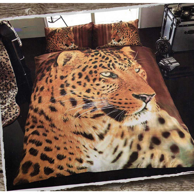 Bettwäsche Leopard 3D