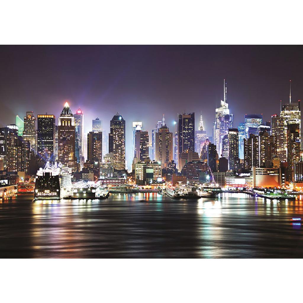 fototapete wohnzimmer new york nacht skyline ca 335cm x 236cm 8 tlg tapete ebay