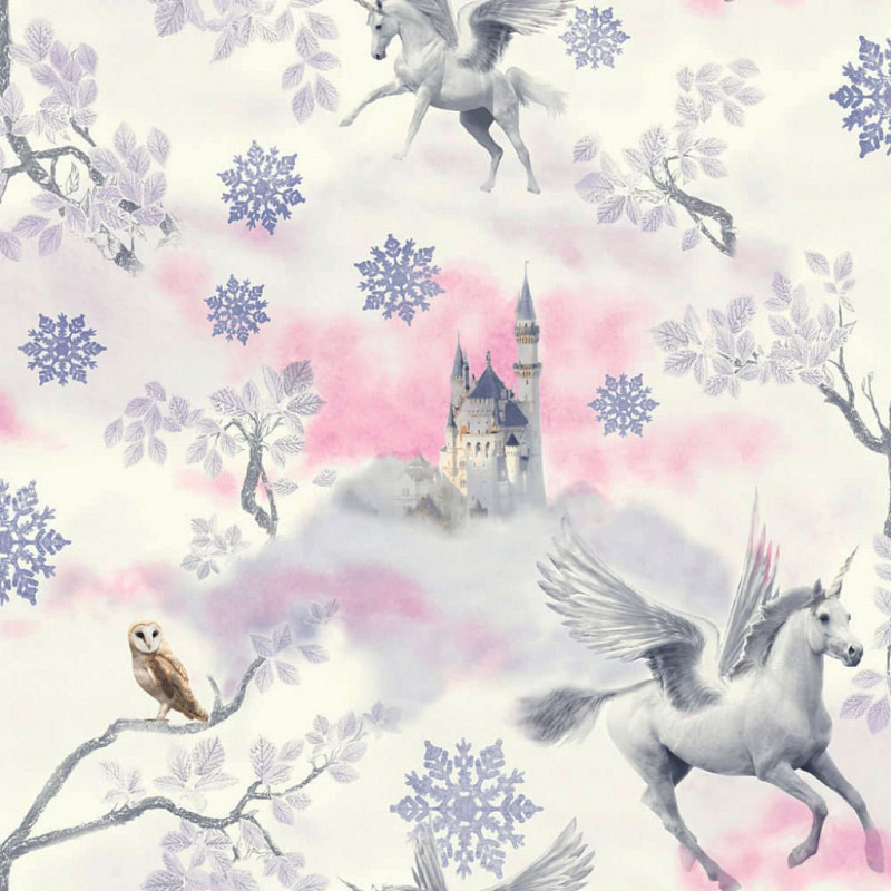 Tapete Einhorn Pegasus lila
