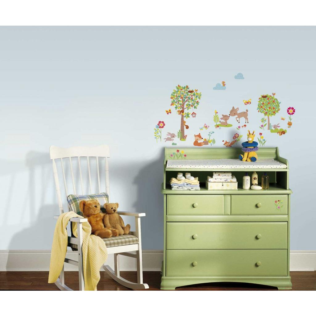 roommates wandsticker tiere des waldes babyzimmer kinderzimmer. Black Bedroom Furniture Sets. Home Design Ideas