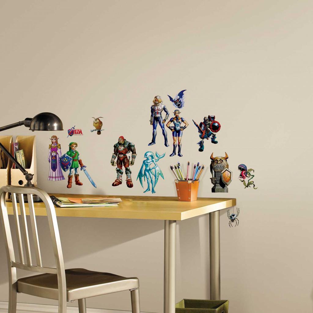 roommates wandsticker legend of zelda 3d kinderzimmer. Black Bedroom Furniture Sets. Home Design Ideas
