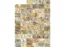 Wanddekoration antike Landkarte Designer Tapete
