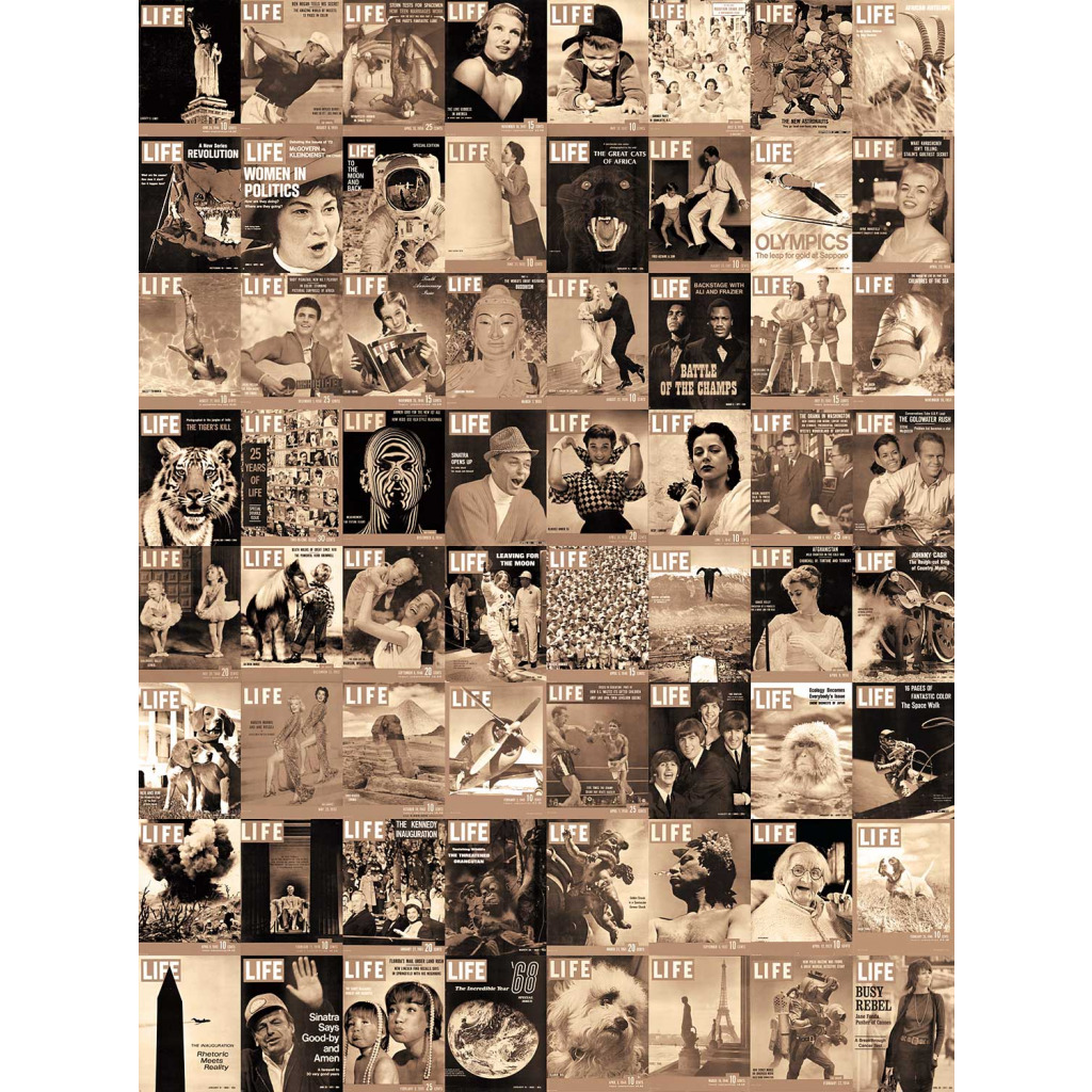 Kreative Collage Life Titelblatt