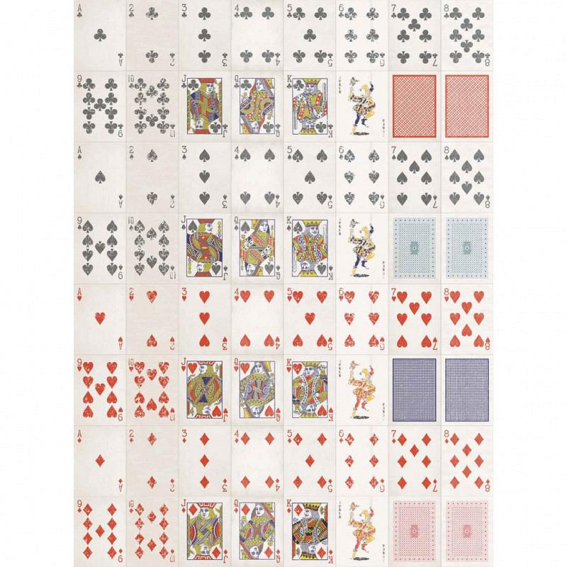 Wanddekoration Spielkarten Designer Tapete