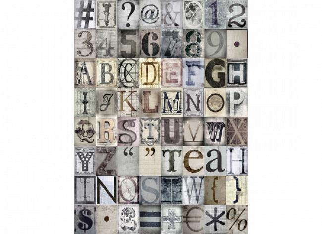 Wanddekoration Buchstaben Zahlen Designer Tapete