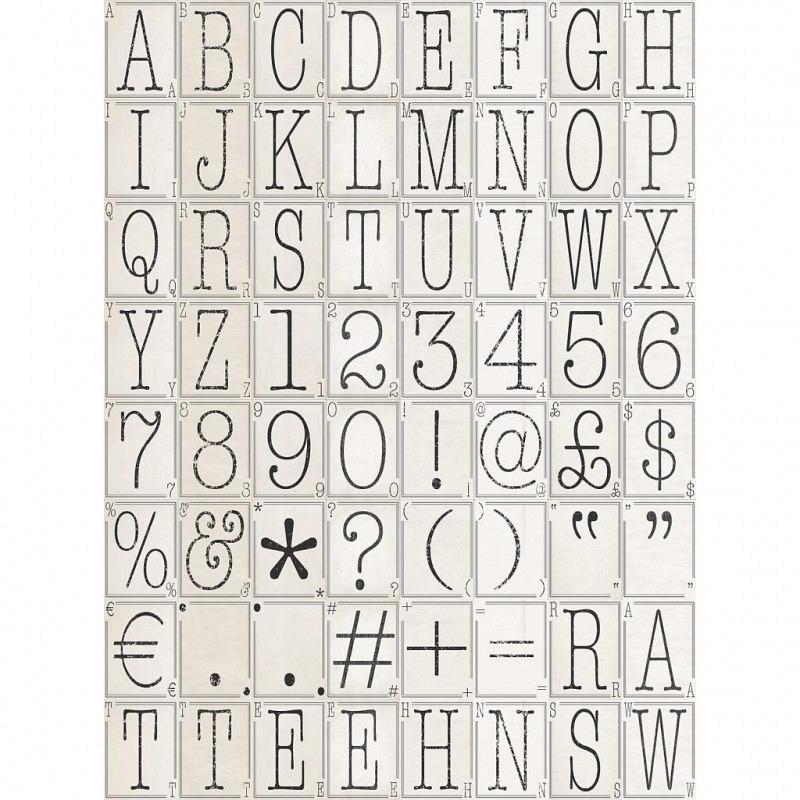 Wanddekoration Buchstaben Nummern Designer Tapete