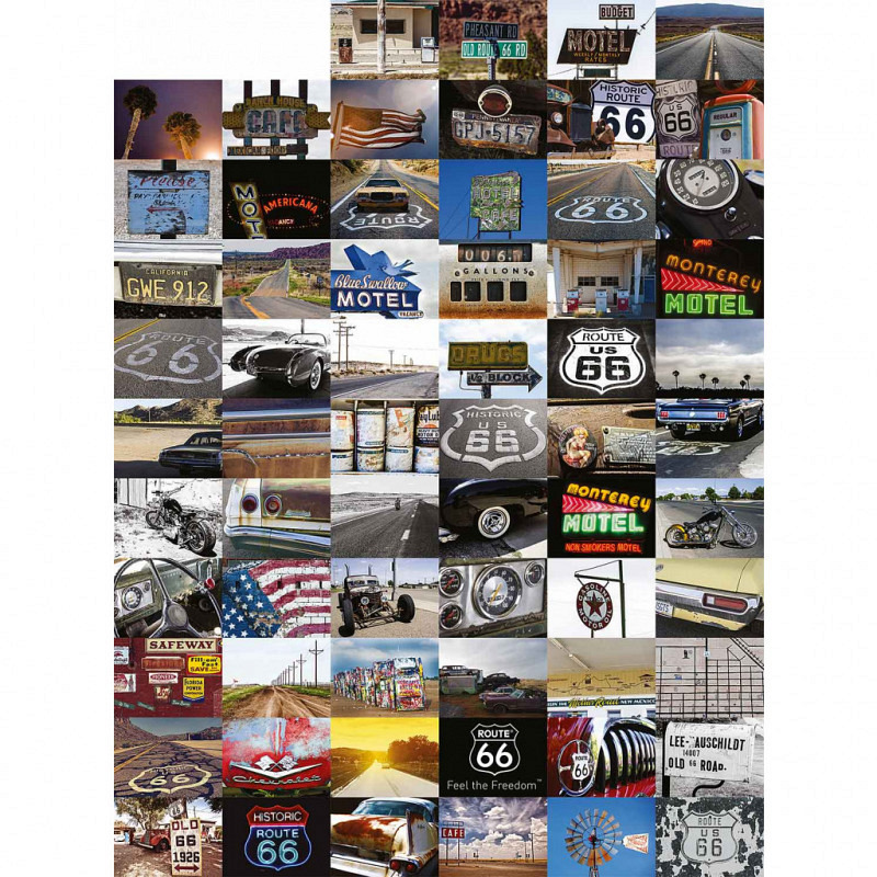 Wanddekoration United States Route 66 Designer T..