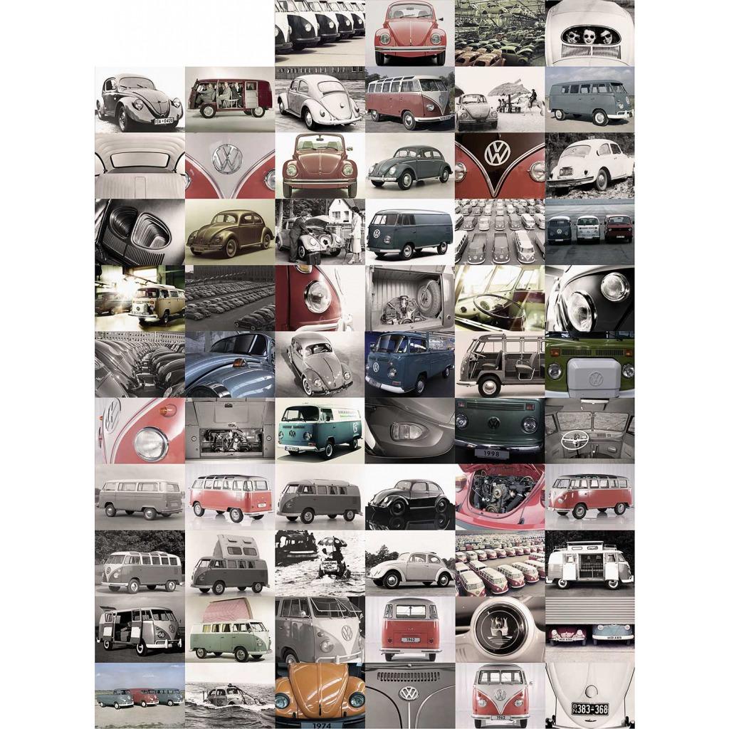 Kreative Collage Volkswagen Auto