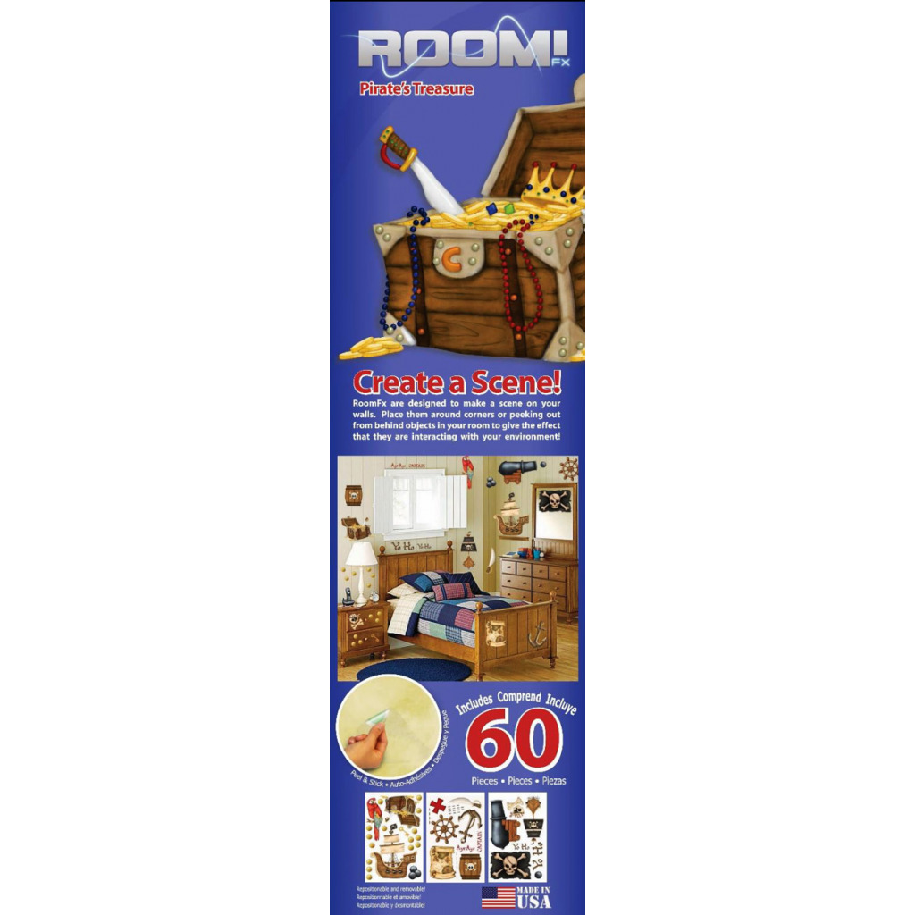 Borders Unlimited Room FX Wandsticker Piratenschatz Verpackung