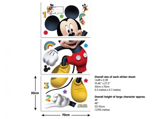 walltastic wandsticker disney mickey mouse xxl wandtattoo. Black Bedroom Furniture Sets. Home Design Ideas