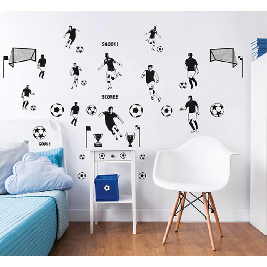 wandsticker fu ball fu baller fu ballspieler dekoset. Black Bedroom Furniture Sets. Home Design Ideas