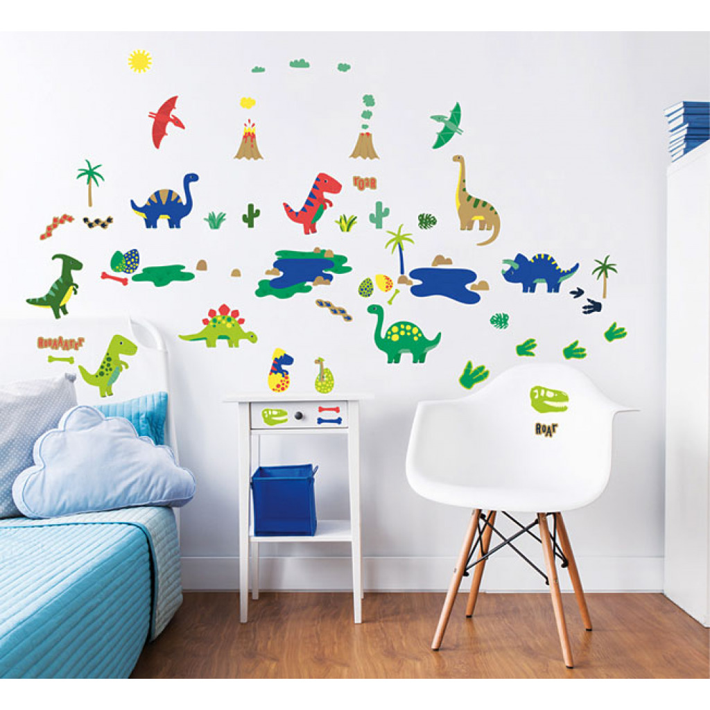 wandsticker dinosaurier dino wandtattoo babyzimmer. Black Bedroom Furniture Sets. Home Design Ideas