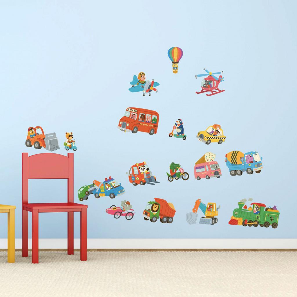 wandsticker kinderzimmer auto fahrzeuge reise der tiere. Black Bedroom Furniture Sets. Home Design Ideas