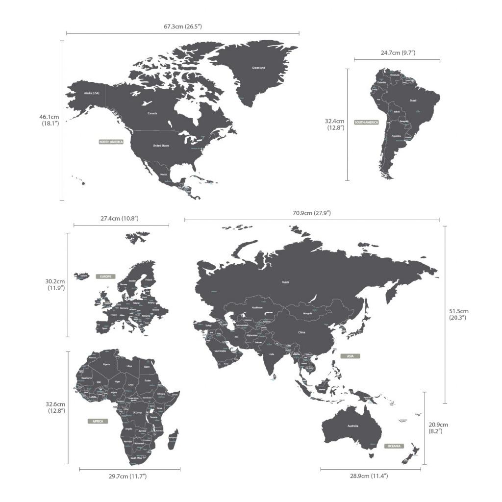 Wandsticker Weltkarte Flur