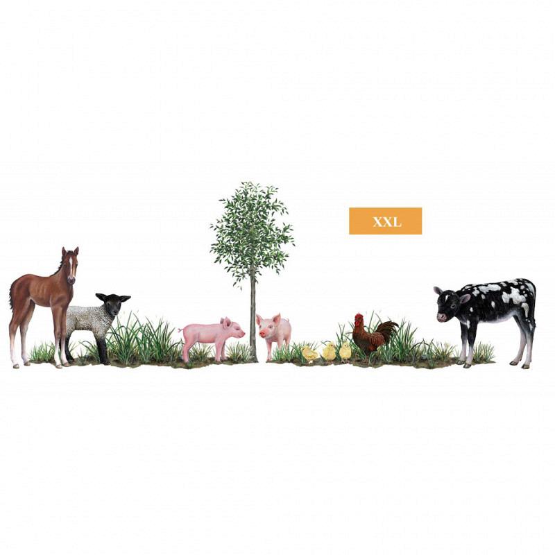 Wandsticker-Set Bauernhof Tiere