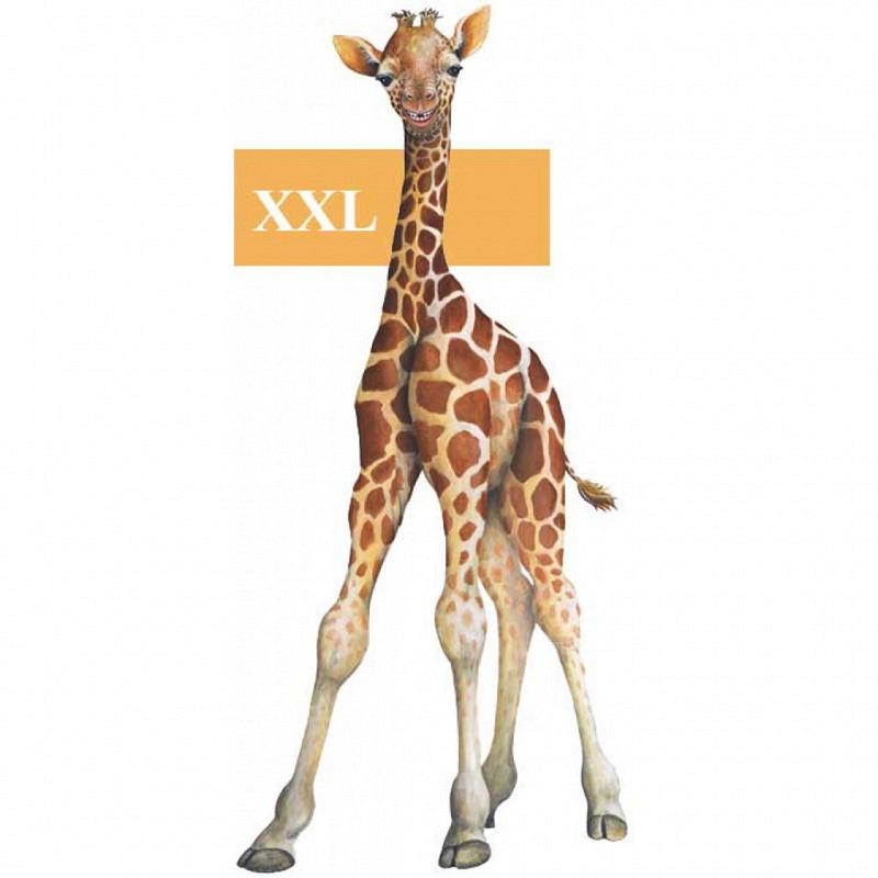 Wandsticker Dschungel Baby Giraffe
