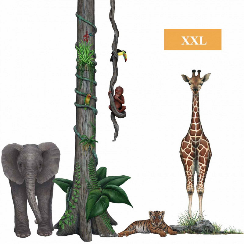 Wandsticker Dschungel Wildlife Set2