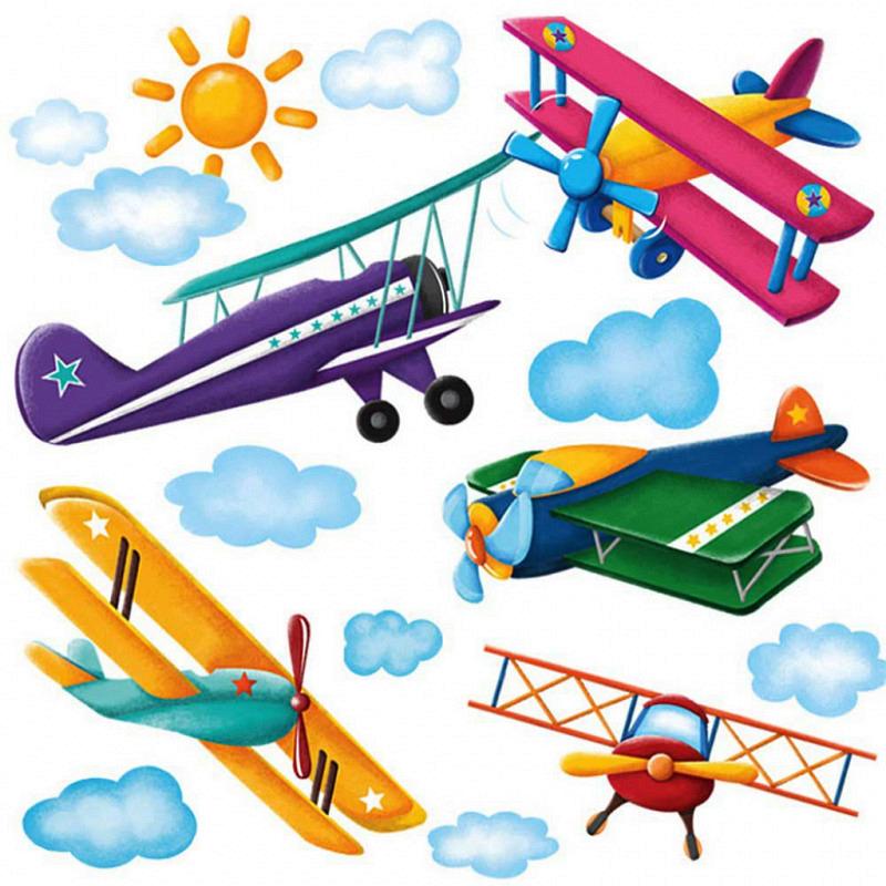 Wandsticker Flugzeuge Doppeldecker Megapack