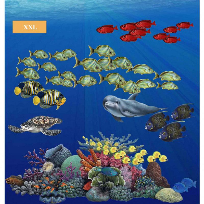 Wandsticker tropische Fische Korallenriff