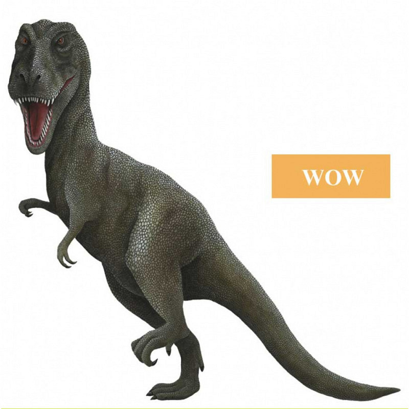 Wandsticker Dinosaurier T. Rex WOW