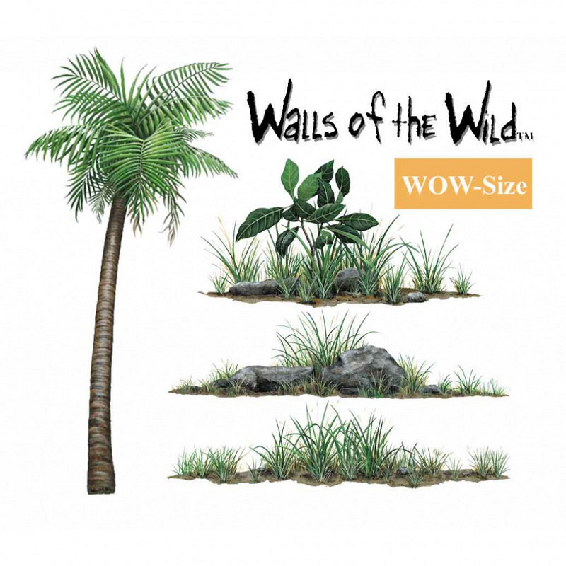Wandsticker Dschungelpflanzen Set WOW