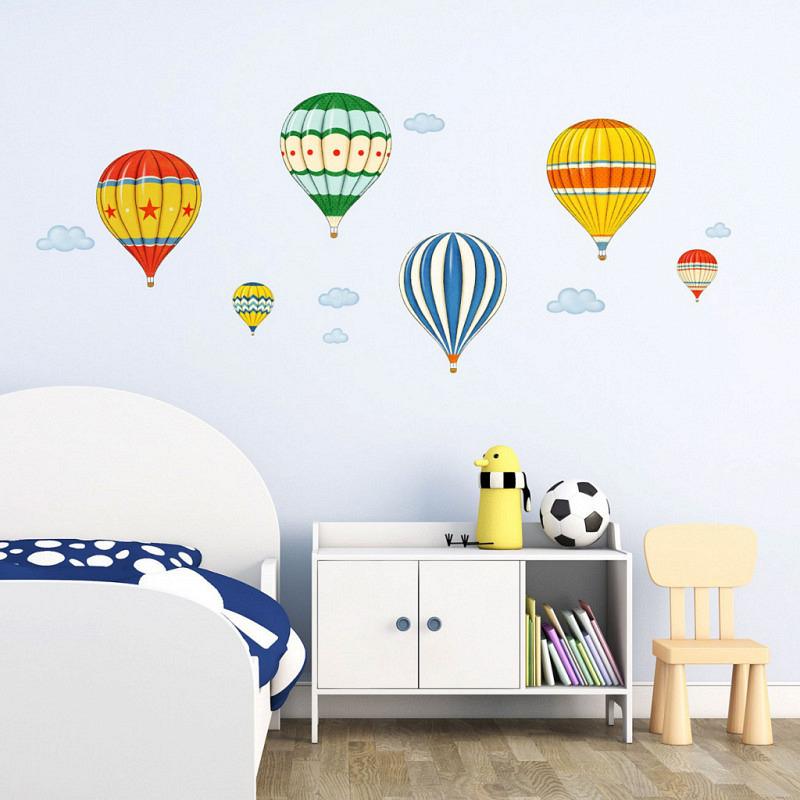 Wandsticker bunte Heißluftballons