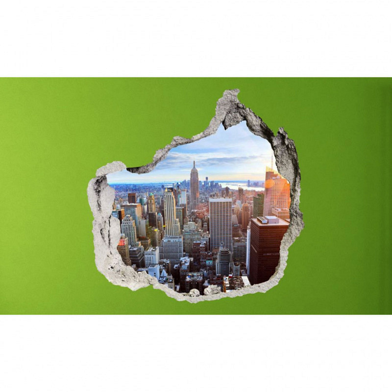 Wandsticker 3D-Optik New York Skyline