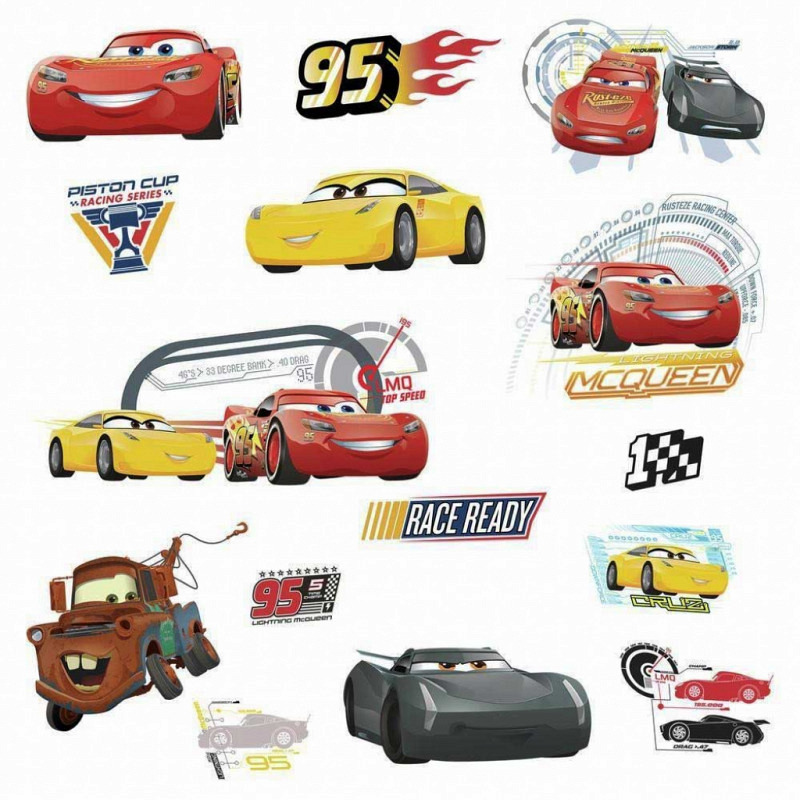 RoomMates Wandsticker Disney Pixar Cars 3