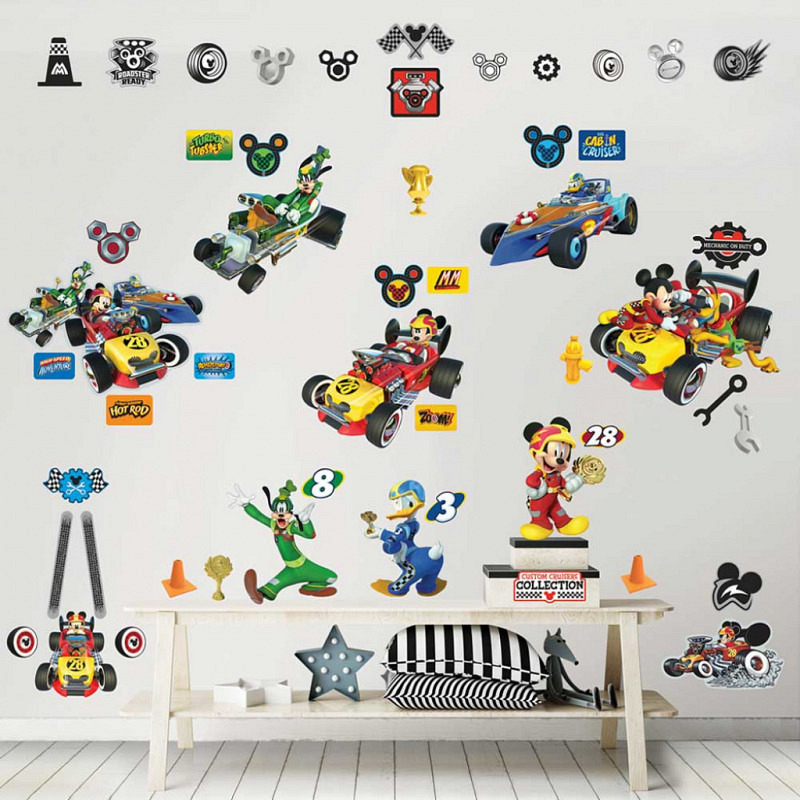 Wandsticker Mickey Mouse Roadster Racers