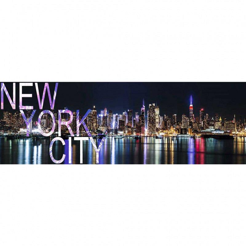 Wandbild New York Großstadtlichter Panorama
