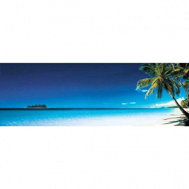 Wandbild Strand Morgen Panorama