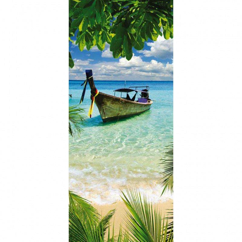 Vlies Türtapete Thailand Boot