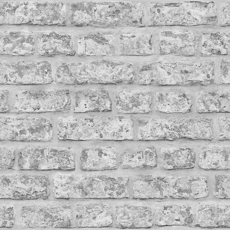 Tapete rustikale Steinwand grau