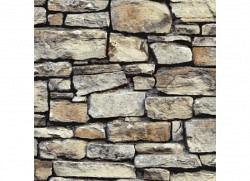 Tapete Cornwall Mauerstein braun