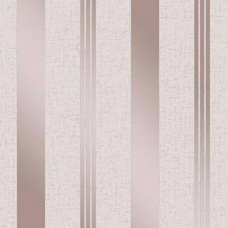 Vinyl Tapete Quartz Streifen Rose Gold
