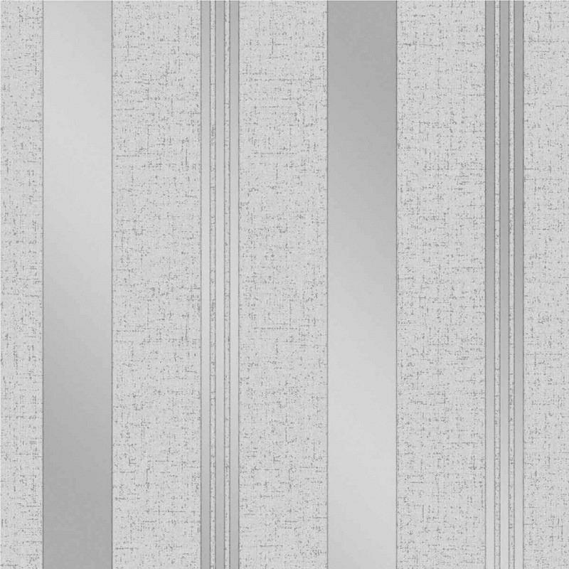 Vinyl Tapete Quartz Streifen silber