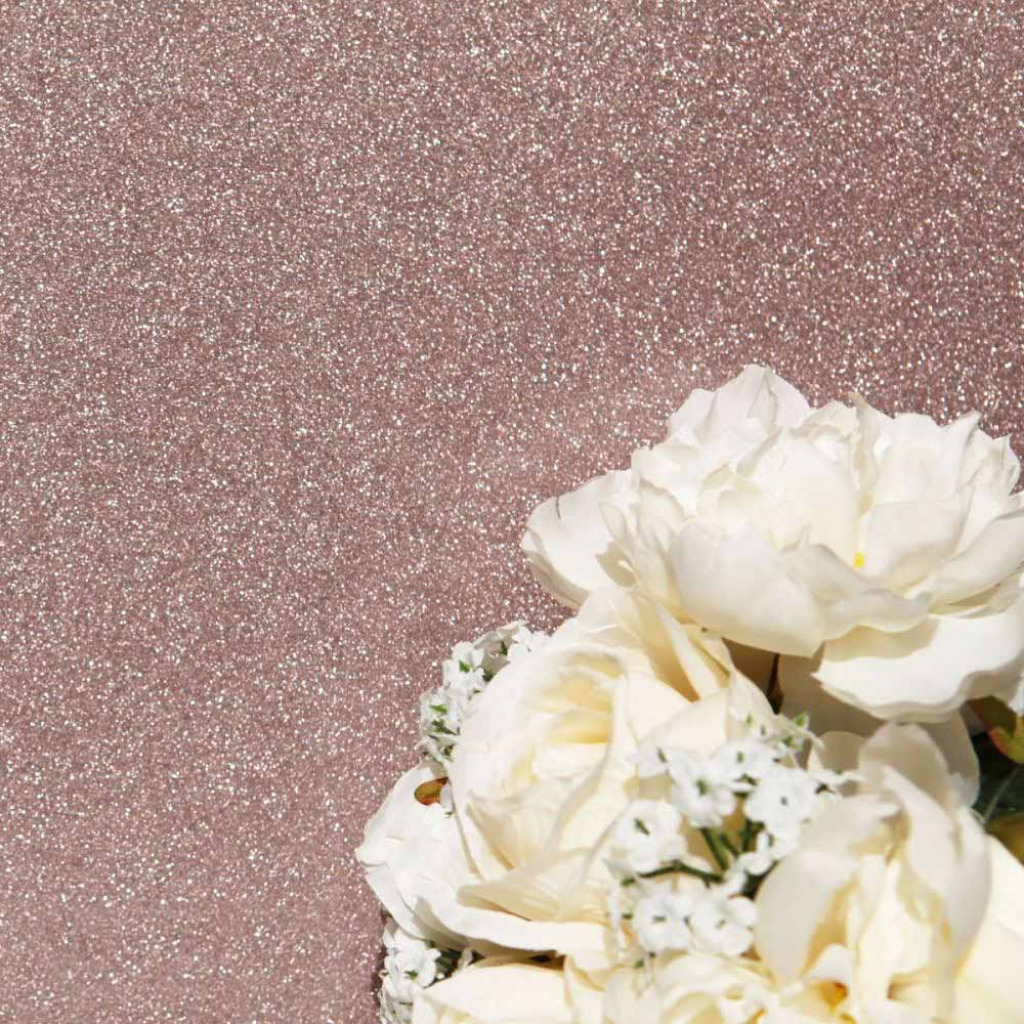 Luxus Tapete Rose Gold Glitter Effekt