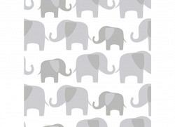 Tapete selbstklebend Elefantenparade grau