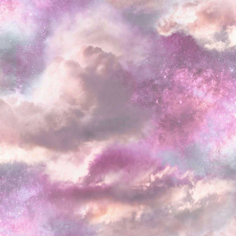 Tapete Diamant Wolken purpur pink