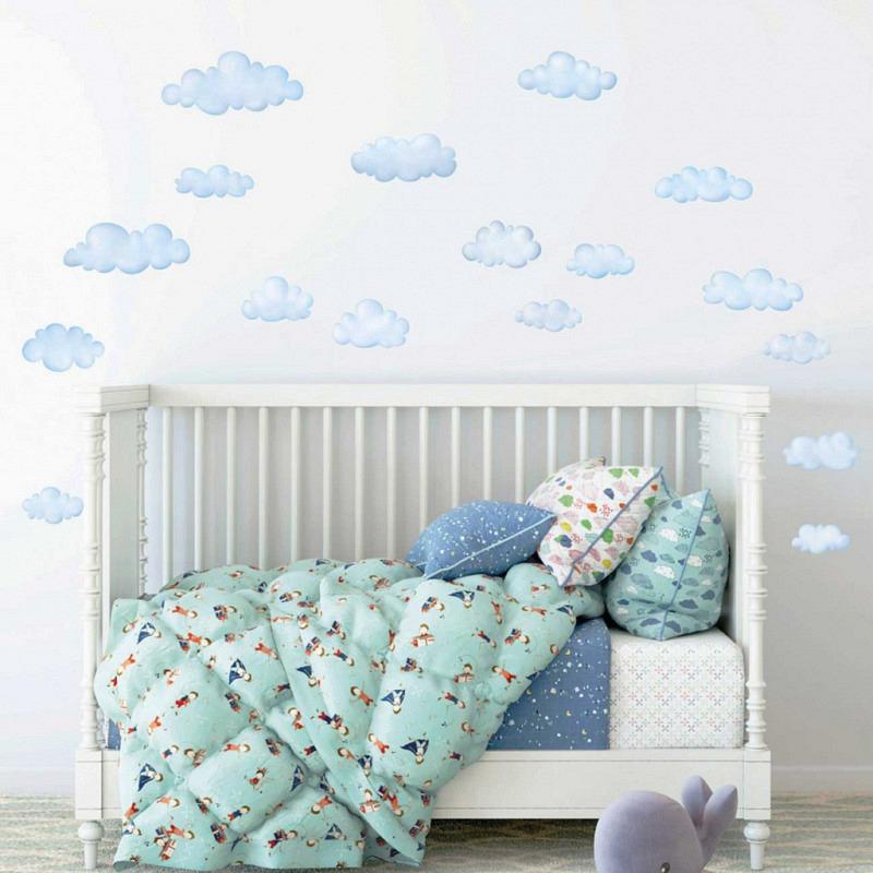 Wandsticker Wolken Himmel klein