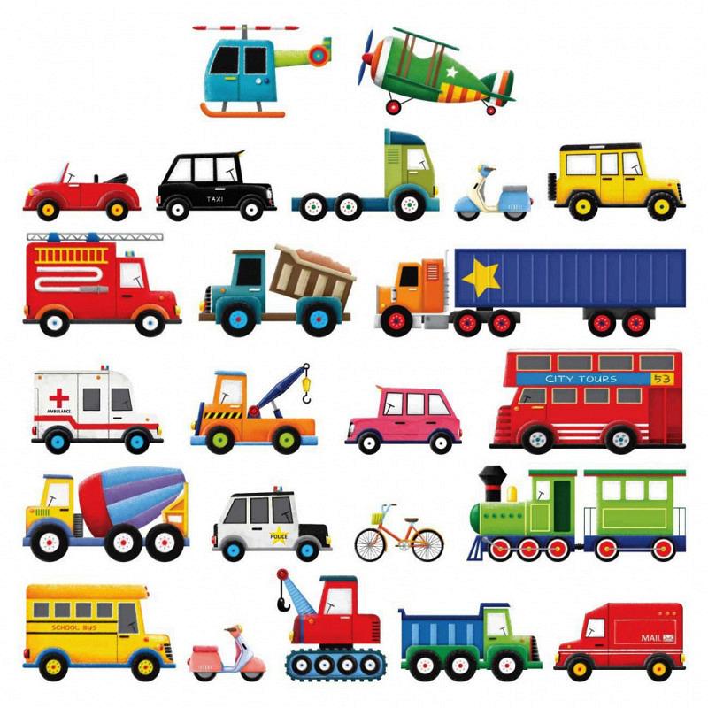 Wandsticker Lastkraftwagen Transporter Autos klein