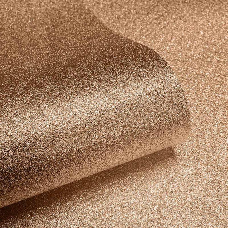 Tapete bronze Glitter Effekt