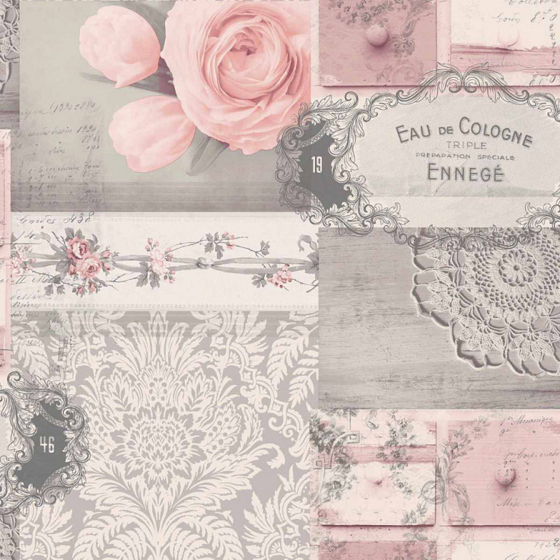 Tapete Ophelia Decoupage Blush
