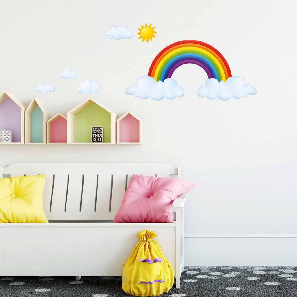 Wandsticker Regenbogen Babyzimmer Kinderzimmer