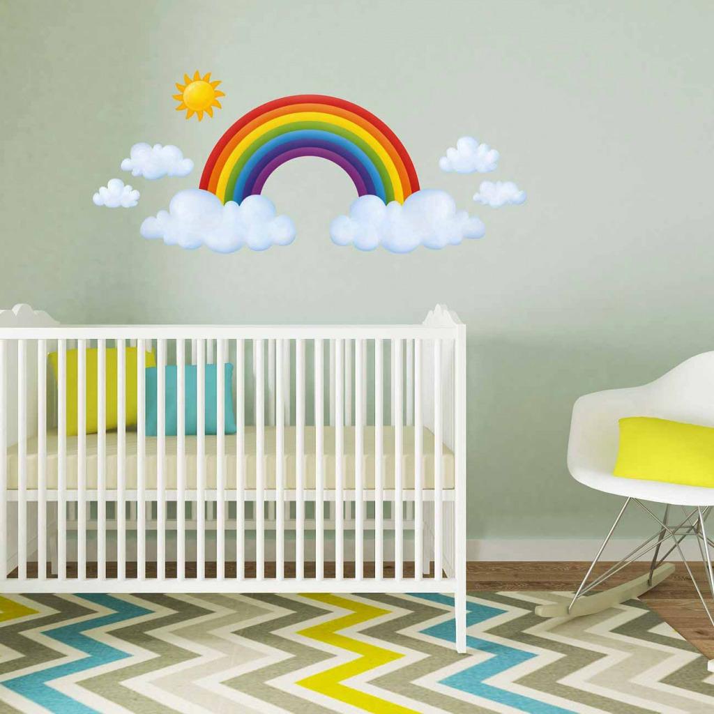 Wandsticker Regenbogen Babyzimmer