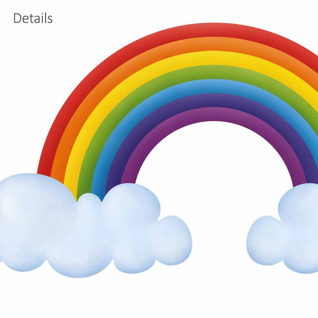 Wandsticker Regenbogen Babyzimmer Details