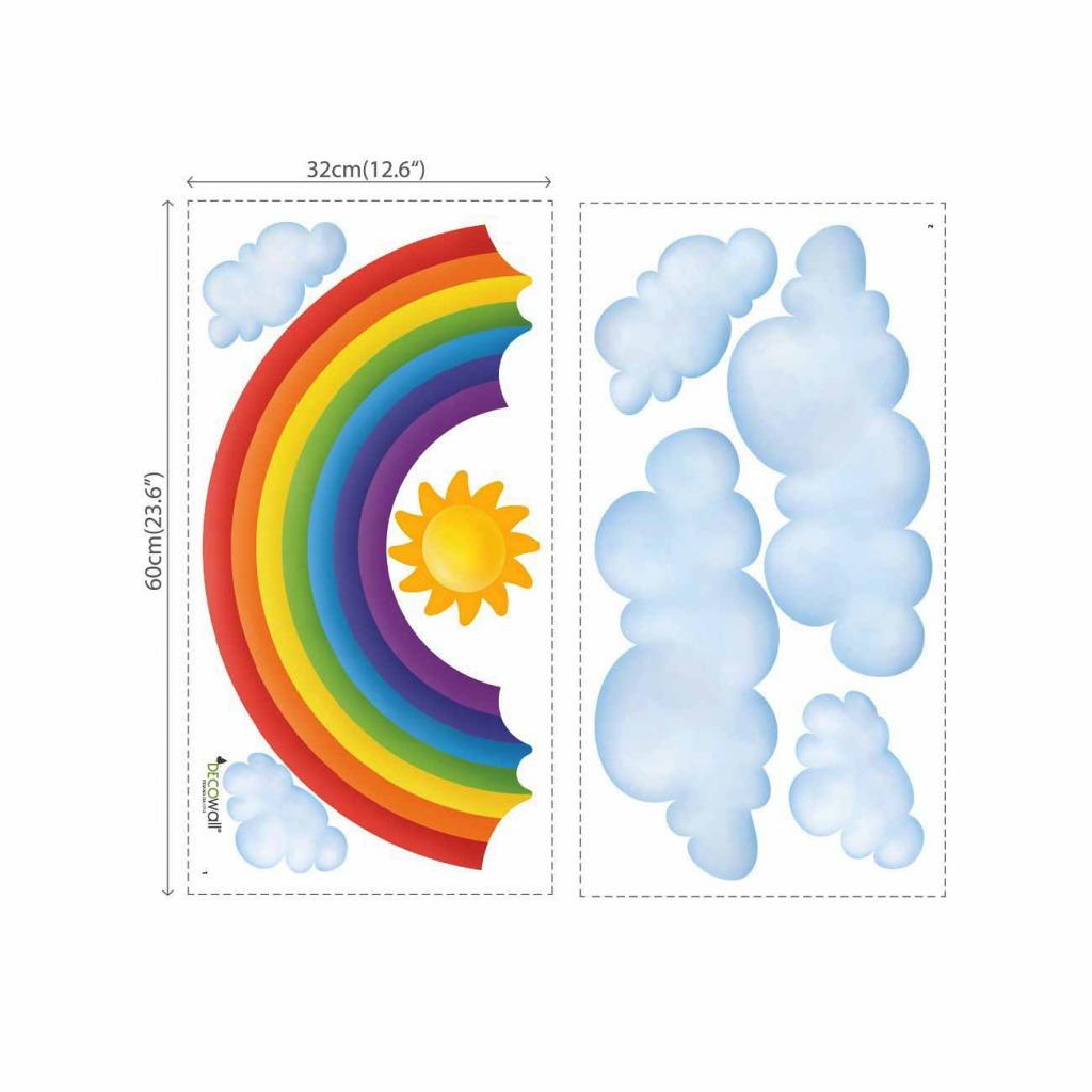 Wandsticker Regenbogen Babyzimmer Maße