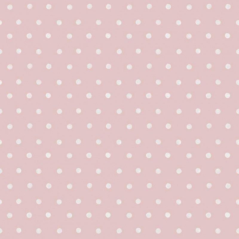 Ökotapete Polka Dot Punkte rosa