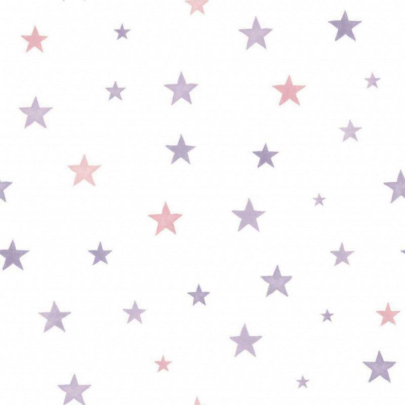 Ökotapete Sterne pink